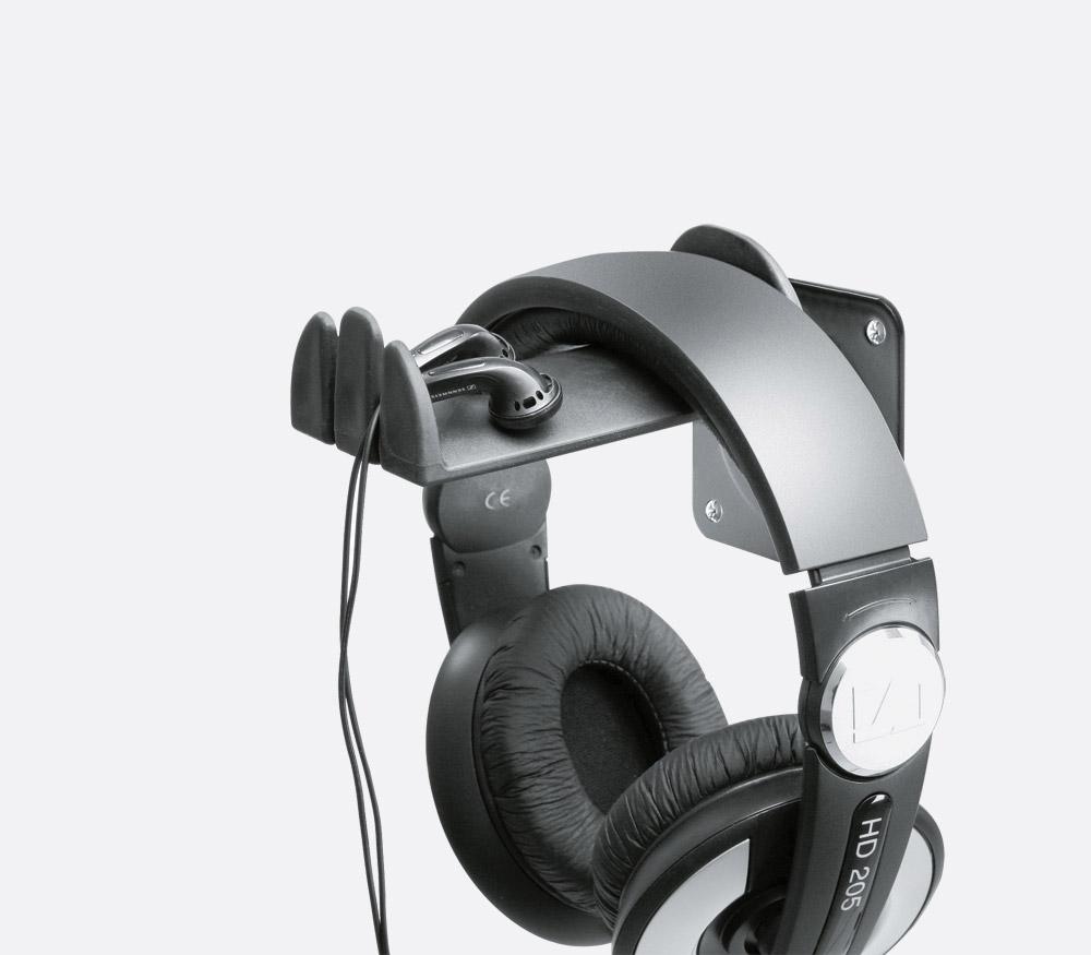K m headphone holders canford - Wall mount headphone holder ...