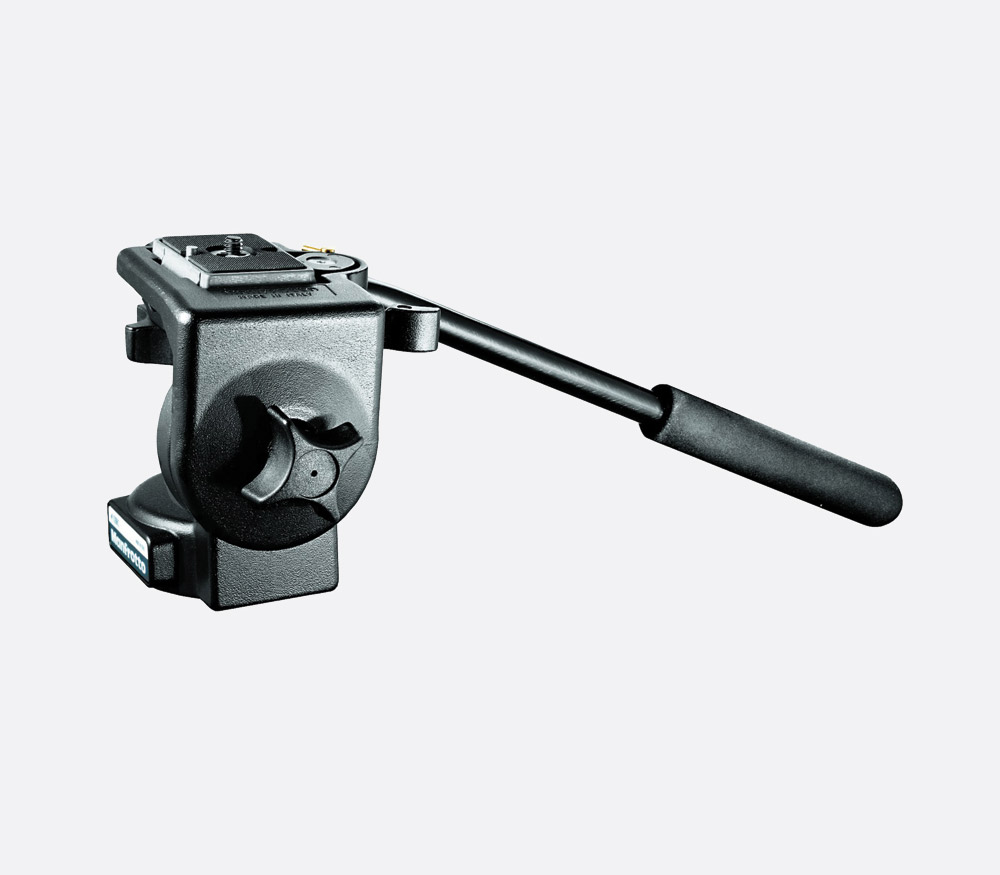 Manfrotto 128rc Video Tripod Head Fluid Type Fixed Drag 4kg Mvh500ah Payload Flat Base