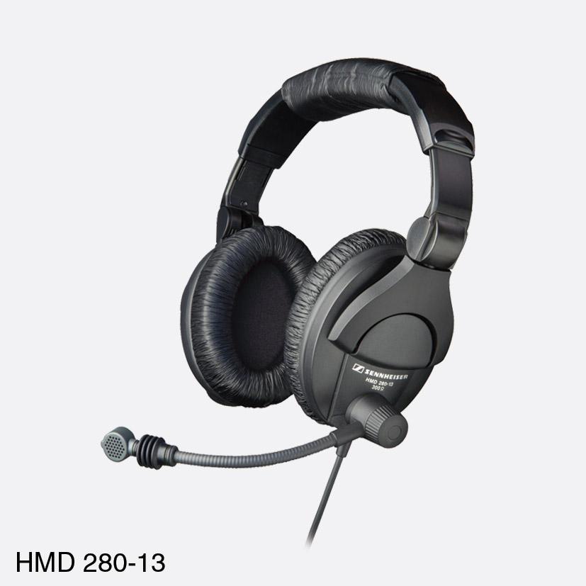 cf1ec85e65a SENNHEISER HMD 280-13 HEADSET Stereo 300 ohms, 200 ohm dynamic mic, 3m  coiled cable, no plug