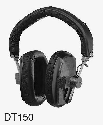 beyerdynamic dt 150 headphones 250 ohms closed back black. Black Bedroom Furniture Sets. Home Design Ideas