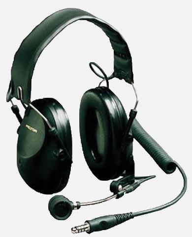 peltor mt7h61fa headset ear defending, with 5 pin male xlr