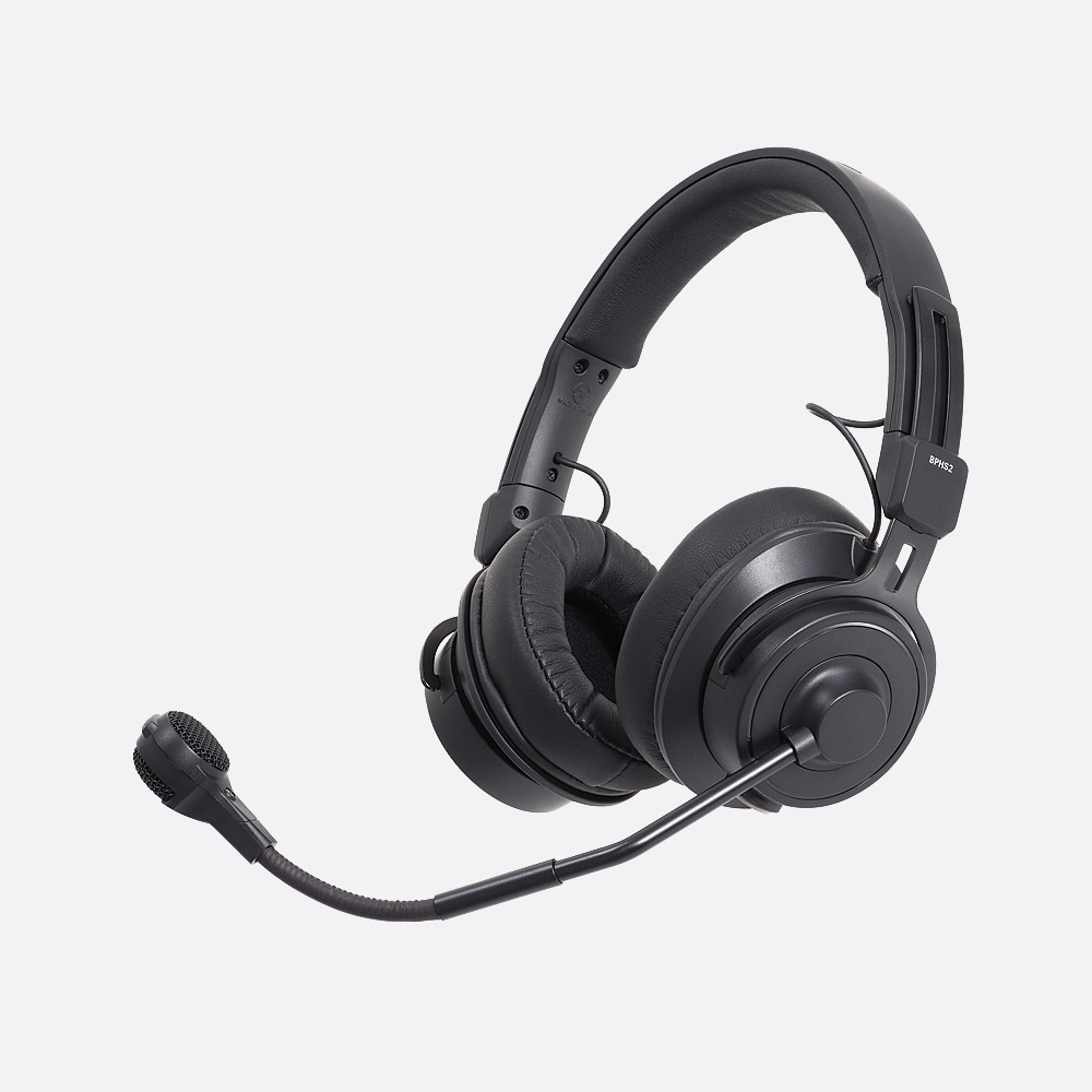 AUDIO TECHNICA BPHS2-UT HEADSET Stereo, dynamic mic, unterminated, straight  cable