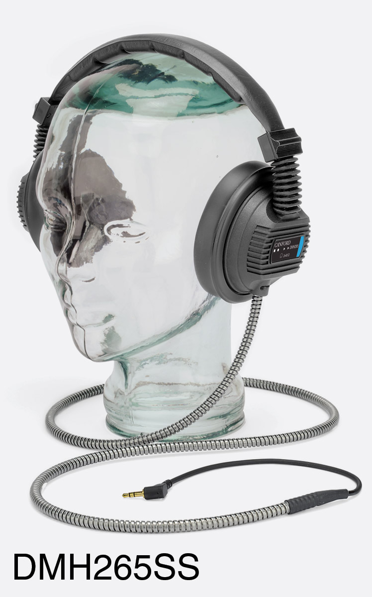 Armored Cable Stainless : Canford dmh ss headphones with stainless steel armoured