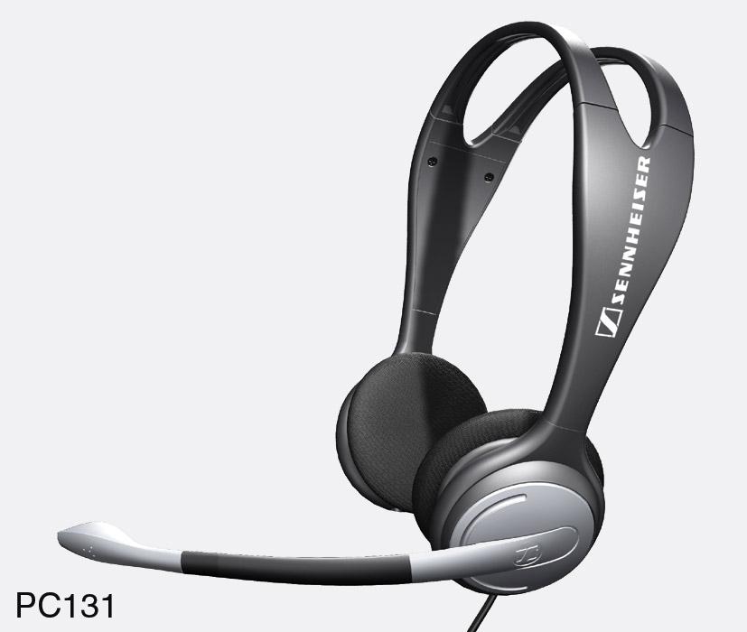 sennheiser pc 131 headset dual ear. Black Bedroom Furniture Sets. Home Design Ideas