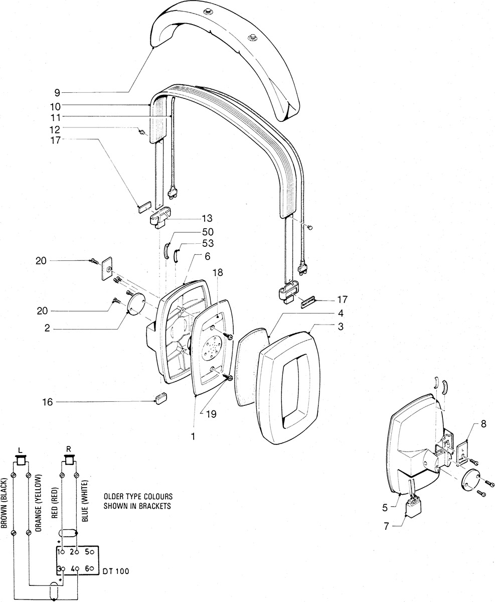 beyerdynamic headphone and headset spare parts - dt100 series