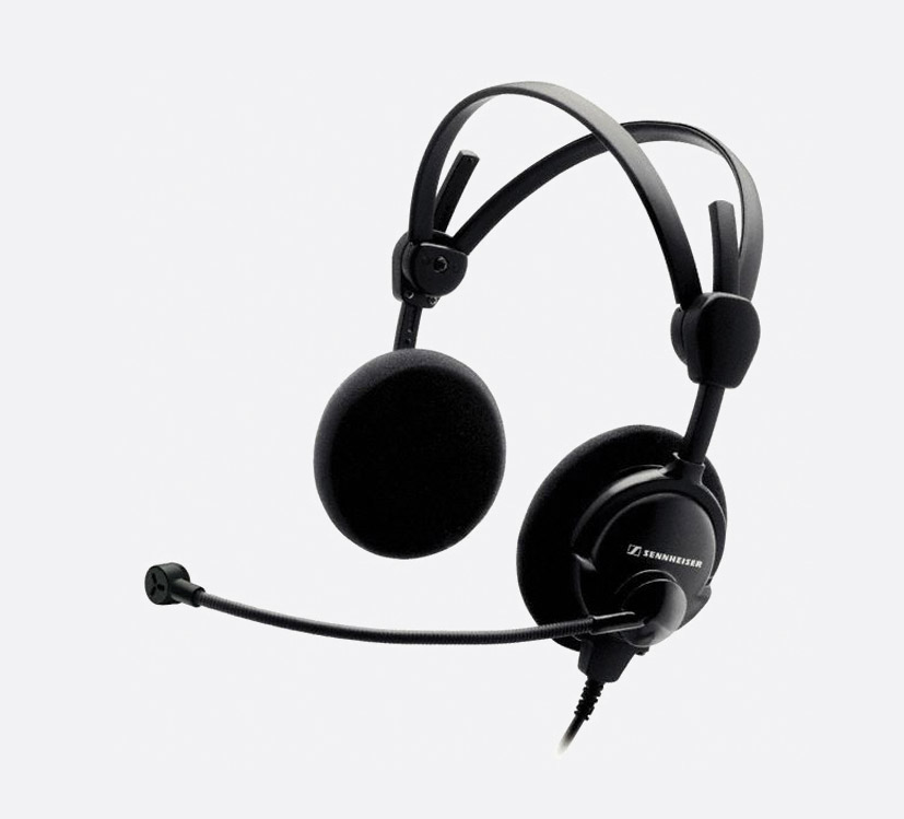 sennheiser hmd 46 31 headset stereo 300 ohms dynamic microphone 200 ohms without cable. Black Bedroom Furniture Sets. Home Design Ideas