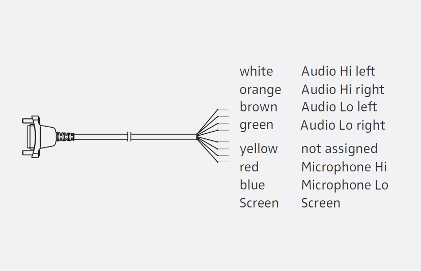 sennheiser 500836 cable 6 copper, for hme 26, 46, hmd 26, 46 headset