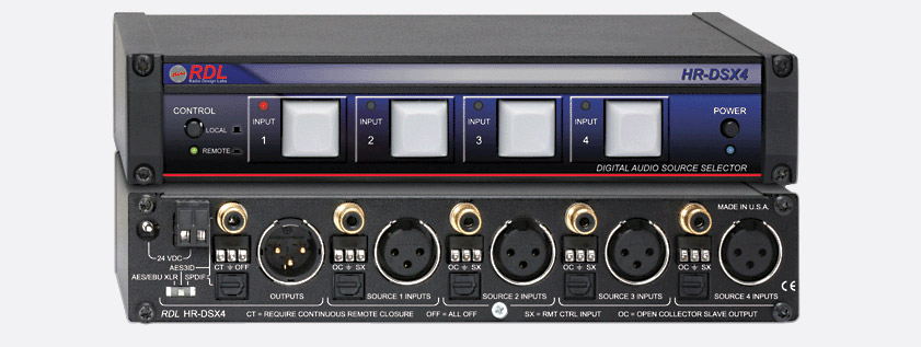 Rdl Hr Dsx4 Source Selector Digital 4x1 Aes Spdif In