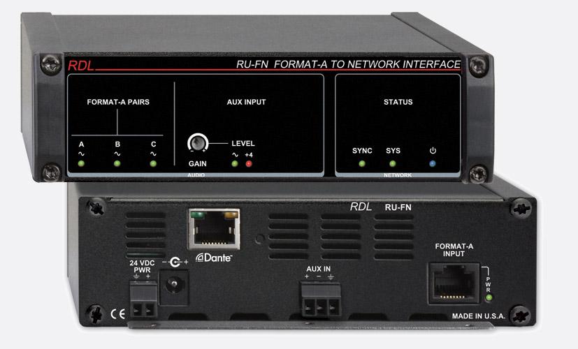 rdl ru fn dante interface input, 1x format a rj45 in, aux termRj45 Wiring For Balanced Phantom #9
