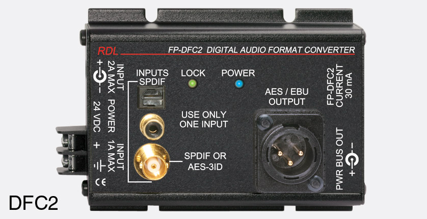 rdl fp dfc2 converter digital audio spdif aes 3id to aes ebu toslink rca phono bnc in xlr out. Black Bedroom Furniture Sets. Home Design Ideas