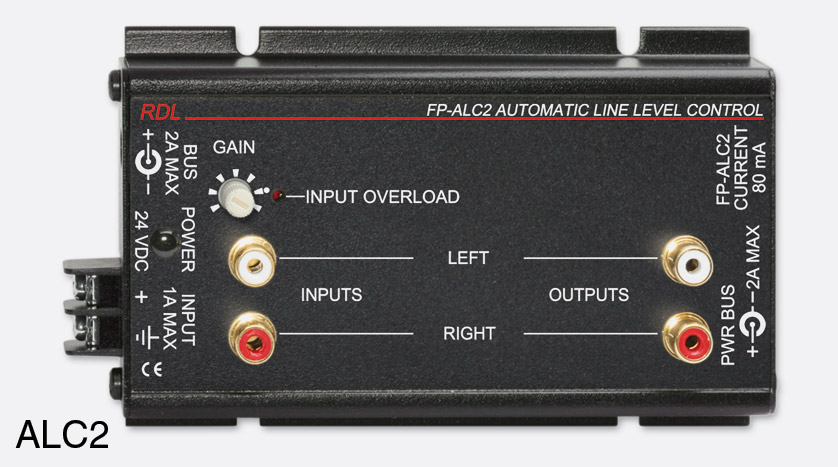 rdl fp alc2 automatic audio line level controller stereo rca phono i o. Black Bedroom Furniture Sets. Home Design Ideas