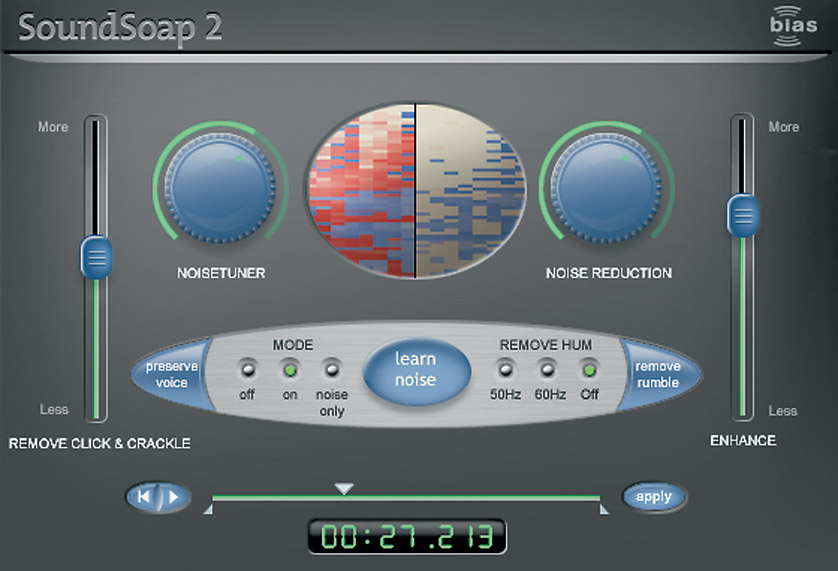 BIAS SOUNDSOAP 2 SOFTWARE Noise reduction, for Mac and PC