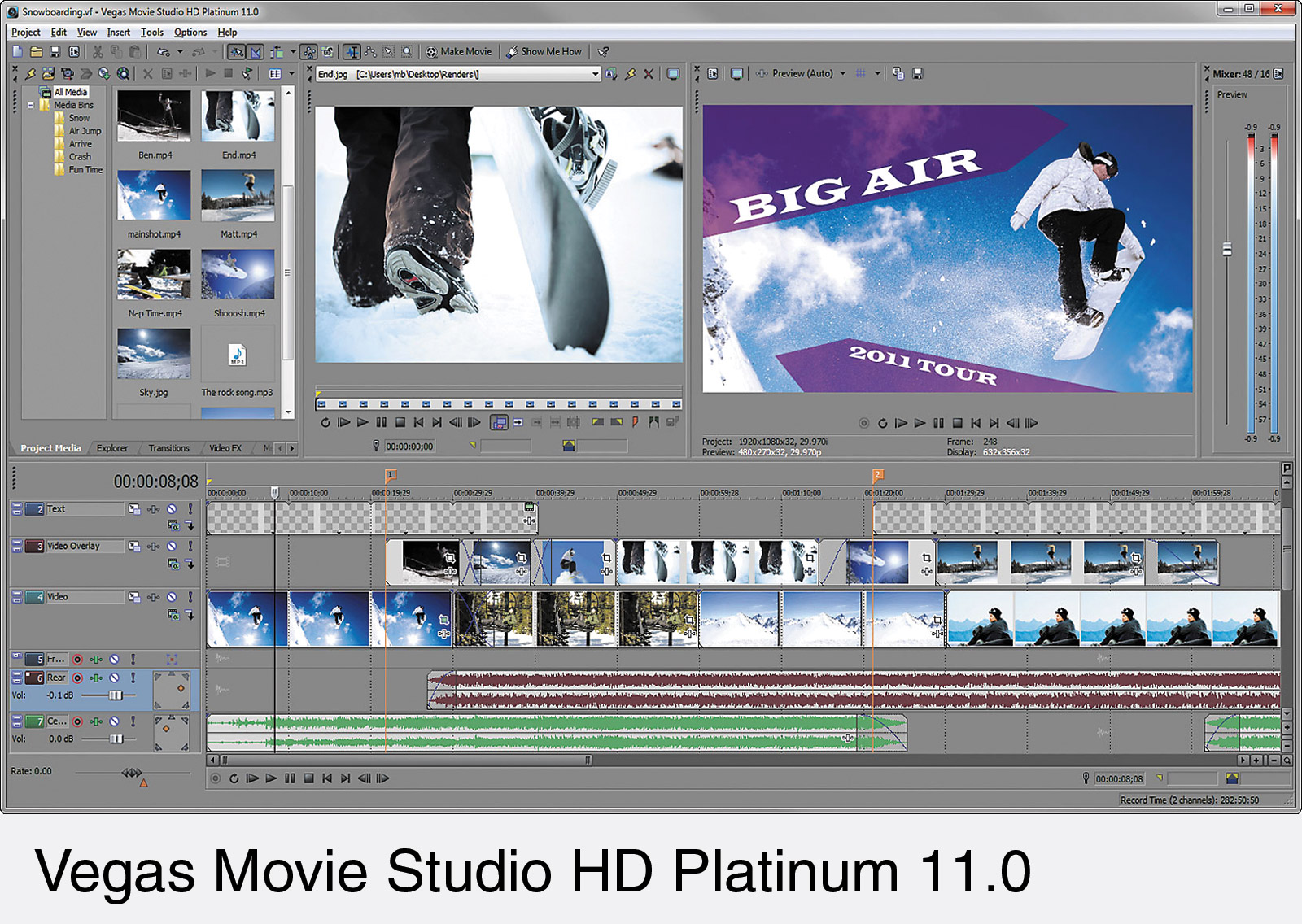 SONY VEGAS MOVIE STUDIO HD PLATINUM 11 SOFTWARE Video edit
