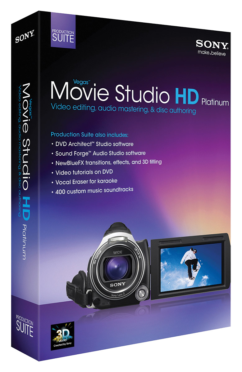 SONY VEGAS MOVIE STUDIO HD PLATINUM 11 PRODUCTION SUITE Video edit