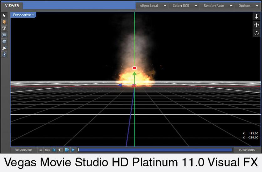 SONY VEGAS MOVIE STUDIO HD PLATINUM 11 VISUAL EFFECTS SUITE SOFTWARE