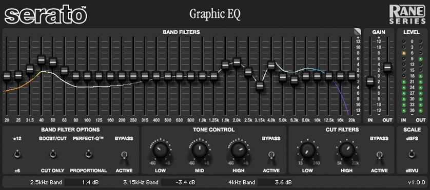 Serato Rane Series Graphic Eq Software Processing Tdm Plug