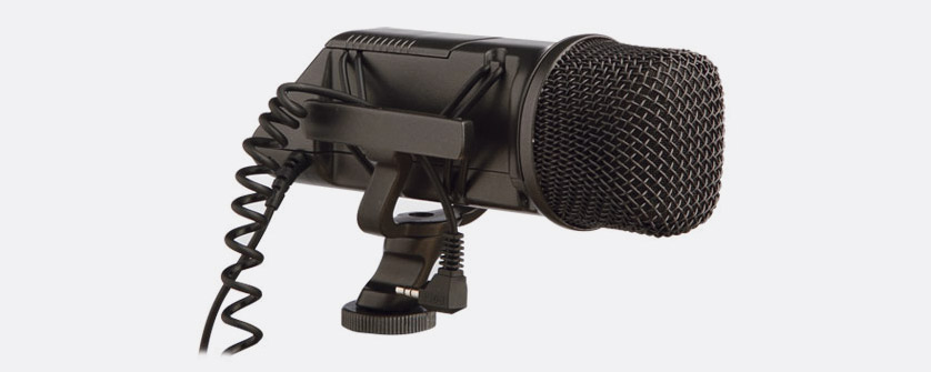 RODE STEREO VIDEOMIC MICROPHONE Condenser, paired cardioid, X/Y, on-camera,  shock mount