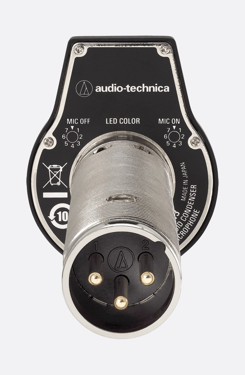 audio technica es947led microphone boundary cardioid condenser phantom only through mount black. Black Bedroom Furniture Sets. Home Design Ideas