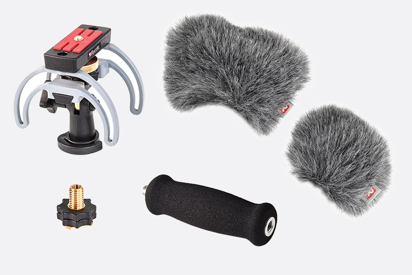 RYCOTE 046023 AUDIO KIT For Zoom H6 portable recorder, suspension,  windjammer