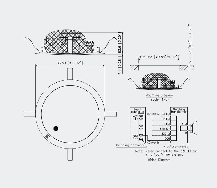 70v audio systems diagram