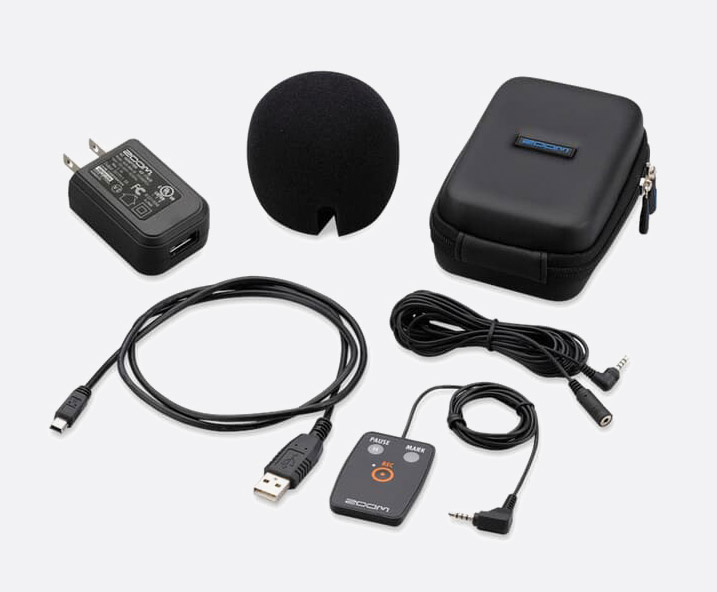 ZOOM APH-2N ACCESSORY PACK For H2n, remote control, windscreen, mic stand  adapter, AC adapter (USB)