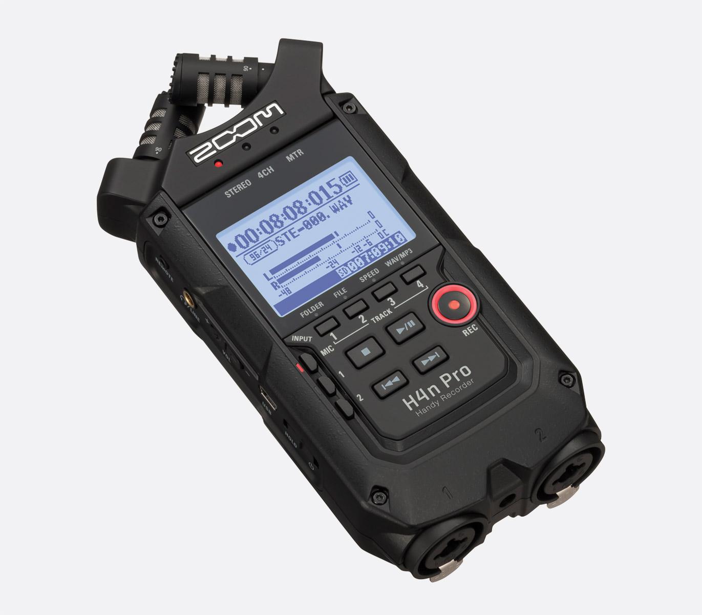 Zoom H4n Pro Handy Recorder Portable Mp3 Wav Sd Sdhc Card X Y