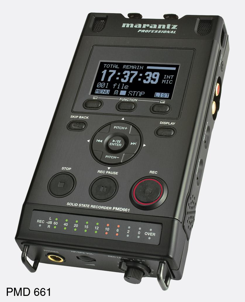 marantz pmd 661 portable recorder for sd card sdhx card flash media. Black Bedroom Furniture Sets. Home Design Ideas