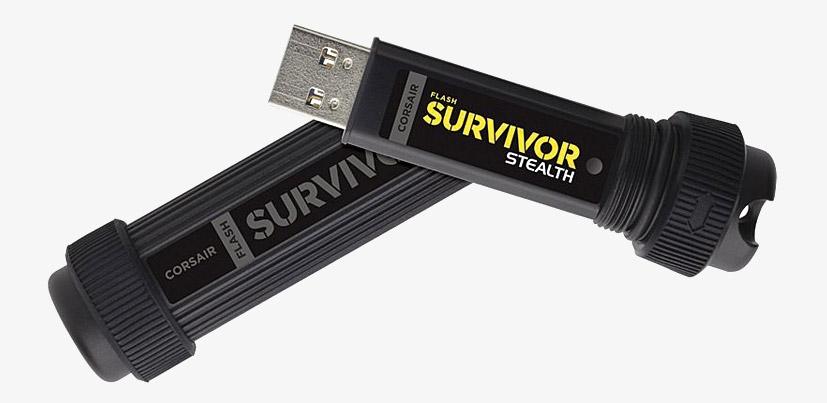 Corsair Cmfss3b 32gb Flash Survivor Stealth 32gb Usb 3 0 Flash Drive