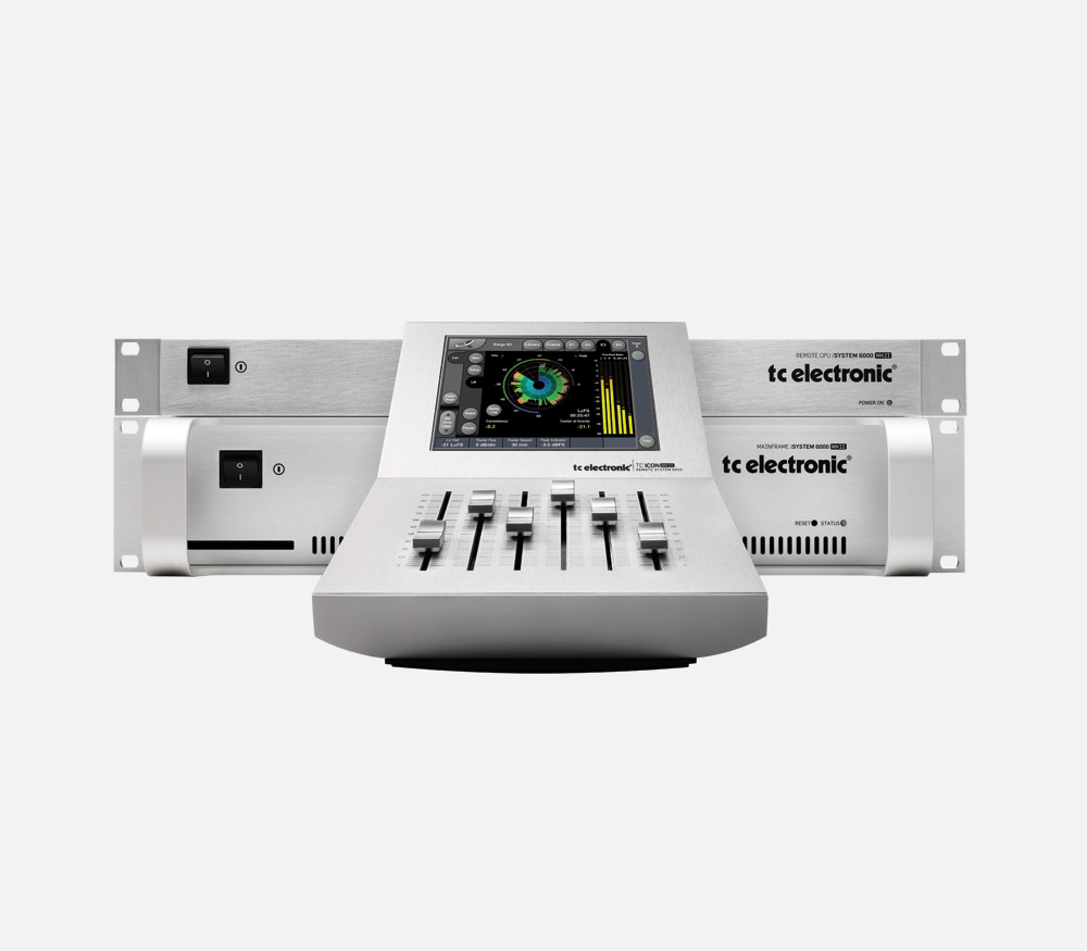 TC ELECTRONIC BROADCAST 6000 MKII AUDIO PROCESSOR Broadcast mainframe with TC Icon mkII remote