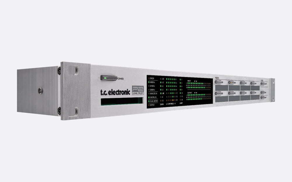 TC ELECTRONIC P2 LEVEL PILOT LOUDNESS CONTROLLER 5-band, limiter,  parametric EQ, digital bypass