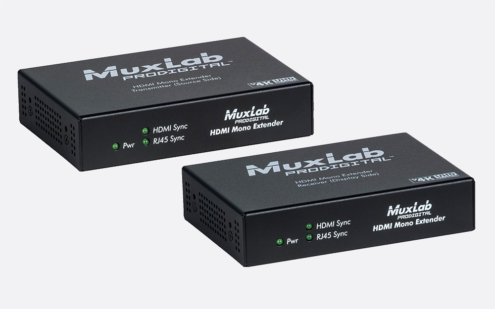 MUXLAB 500451 HDMI EXTENDER KIT Over Cat5e/6, 40/70m reach point to point,  4K/1080p