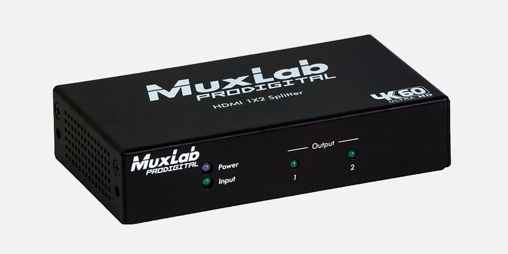 MUXLAB 500425 HDMI/HDBT 1x2 SPLITTER 4K/60, HDCP 1 4/2 2, deep colour, HD  audio