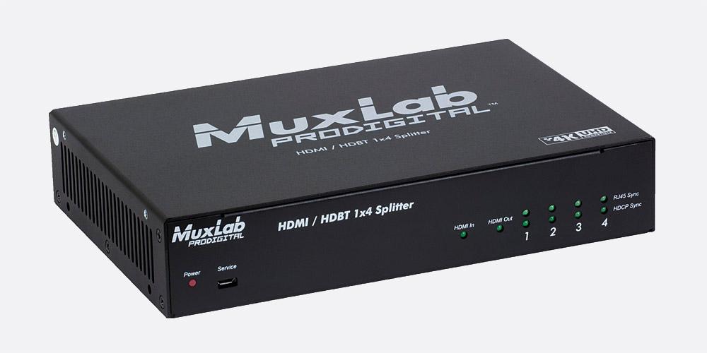 MUXLAB 500424 HDMI/HDBT 1x4 SPLITTER 4K/30, HDCP 1 4, HD audio