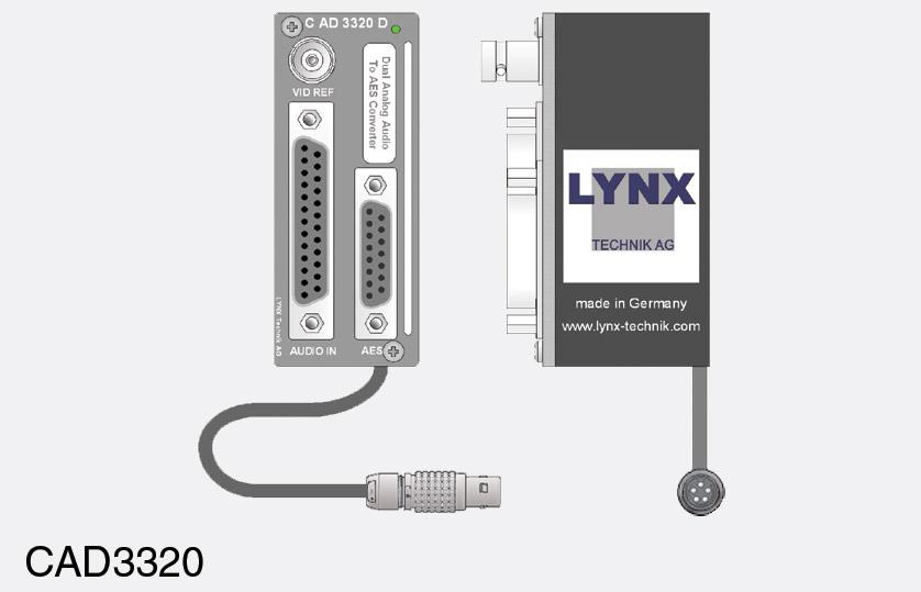 LYNX C AD 3320 D A/D CONVERTER MODULE Audio, 4x line in, 2x AES/EBU