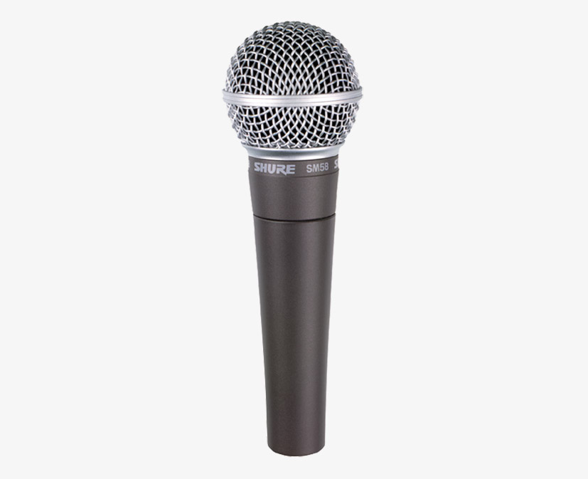 SHURE SM58 MICROPHONE Vocal dynamic, cardioid on