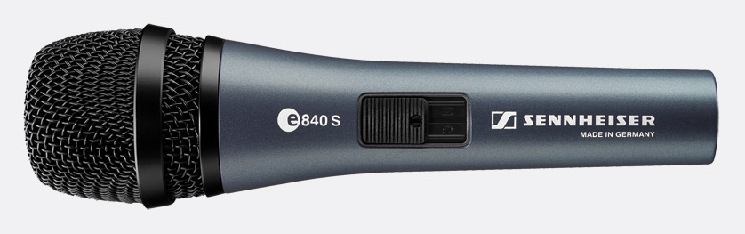 sennheiser evolution e840s microphone dynamic super cardioid live vocal with switch. Black Bedroom Furniture Sets. Home Design Ideas