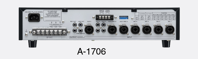 toa a 1712 mixer amplifier 120w 4 100v ac power 2 zone rh canford co uk Toa Amplifiers Vintage Toa Amplifier Repair