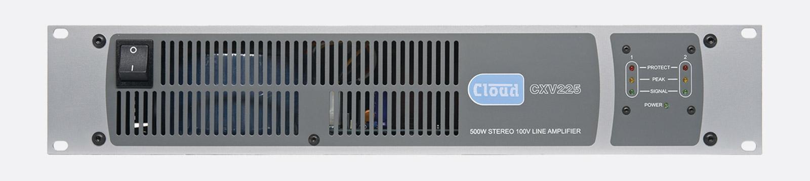 cloud cxv225 power amplifier 100v 2x 250w transformer less topology 2u. Black Bedroom Furniture Sets. Home Design Ideas