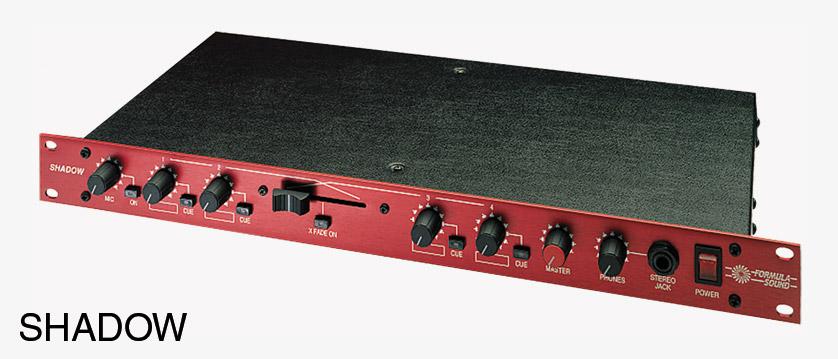 Formula Sound Shadow Mixer Stereo 1 Microphone 4 Inputs 1u Rackmount