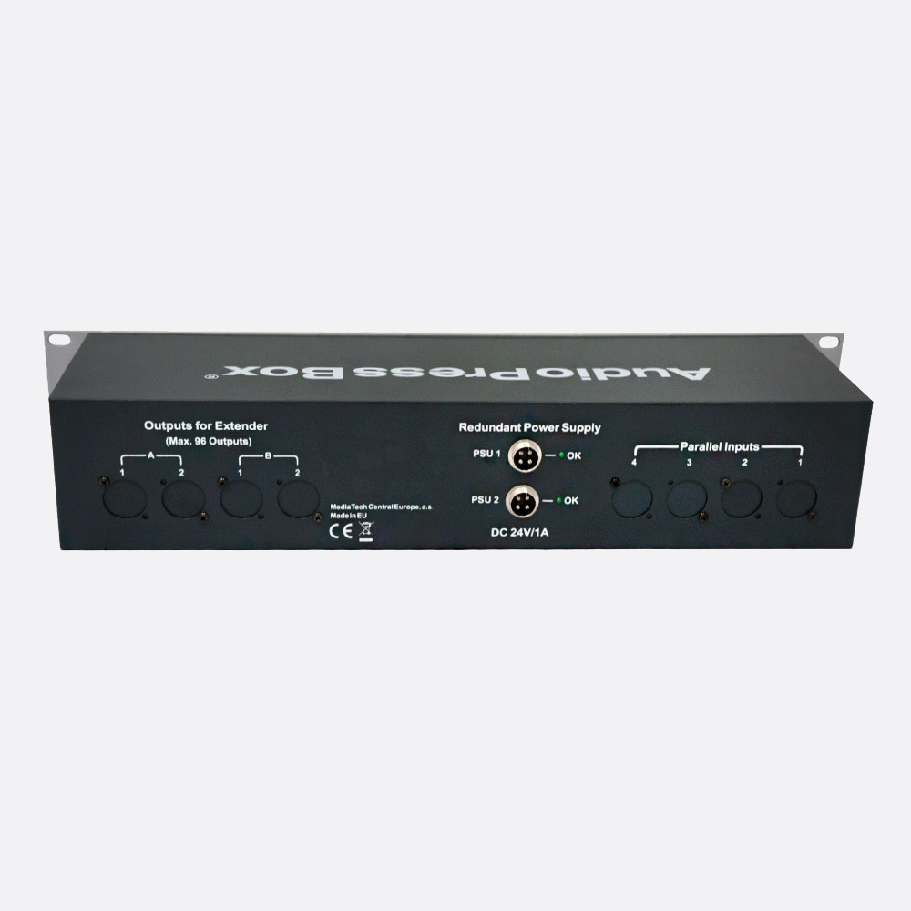 Audiopressbox Apb 116 R Rps Press Splitter Active 2u 1x Mic Line Audio Interfaces Redbox Distribution Amplifiers In 16x Out