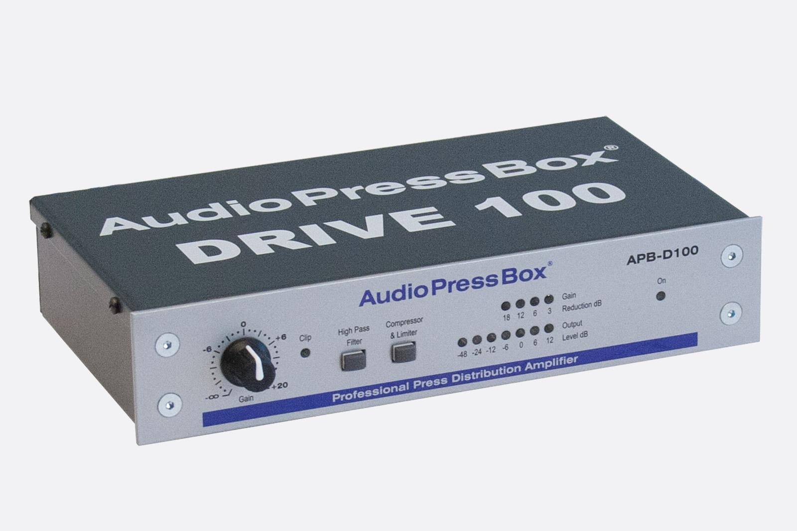 AUDIOPRESSBOX APB-D100 PRESS SPLITTER DRIVE UNIT Active, portable, 1x line  in, 2x Exp  out