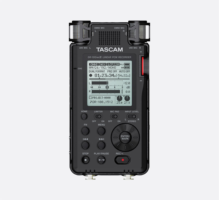 tascam dr 100mk3 portable recorder for sd sdhc card onboard mics 2x xlr jack mic line in. Black Bedroom Furniture Sets. Home Design Ideas