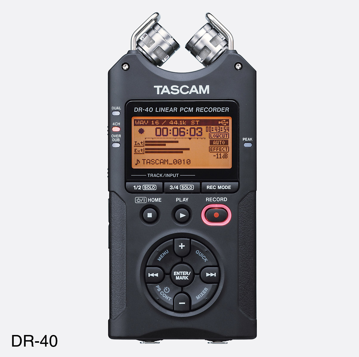 tascam dr 40 portable recorder for sd sdhc card 2x inbuilt microphone mic in line in. Black Bedroom Furniture Sets. Home Design Ideas