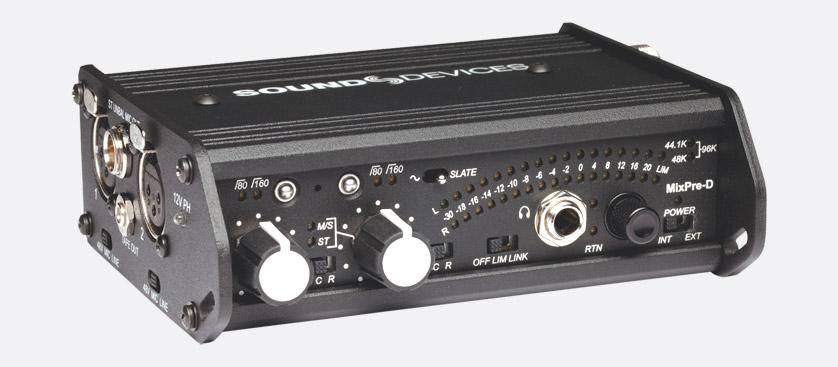 sound devices mixpre d microphone preamplifier mixer dual bus 2 channel portable usb. Black Bedroom Furniture Sets. Home Design Ideas