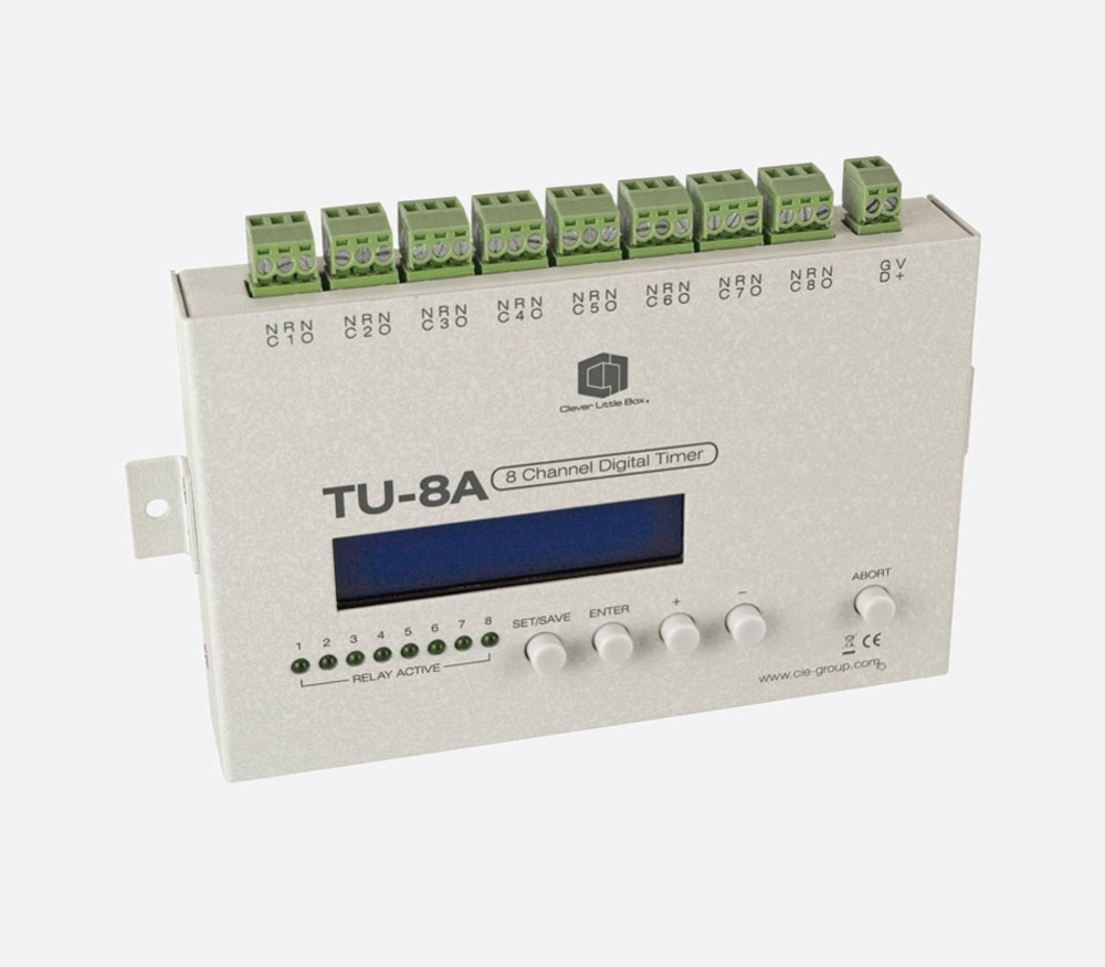 Clever Little Box Tu 8a 8 Channel Digital Timer Programmable 64 Circuit Breaker With Events 7 Day