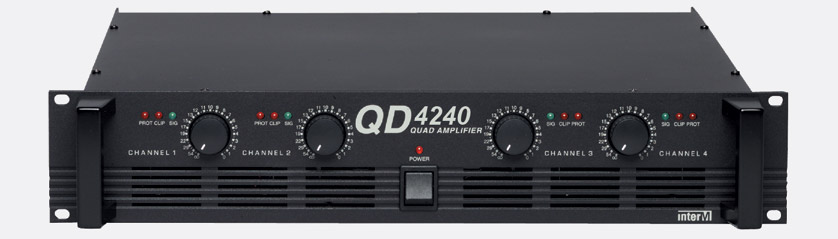 inter m qd 4240 power amplifier 4x 40w 8 60w 4 bridge facility rackmount 2u. Black Bedroom Furniture Sets. Home Design Ideas