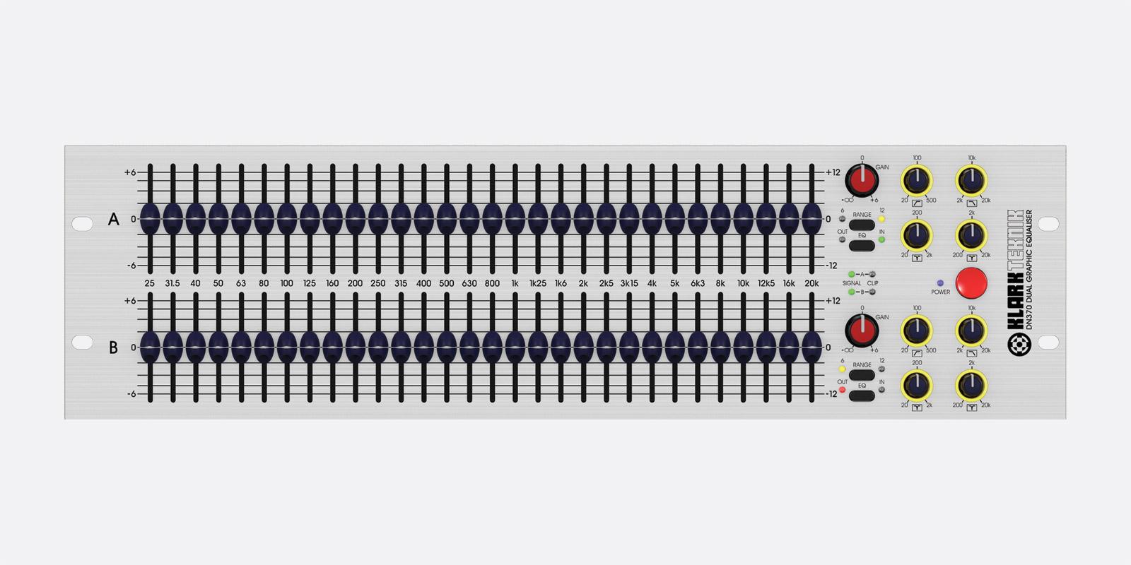 KLARK TEKNIK DN370 GRAPHIC EQUALISER 2 channel, 30 band, 1 ...