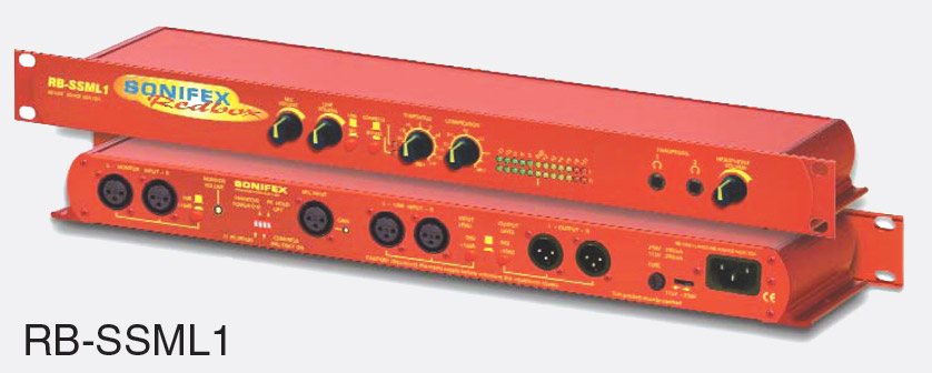 SONIFEX RB-SSML1 CONTRIBUTION UNIT Microphone / line in, compressor  limiter, headphone feed