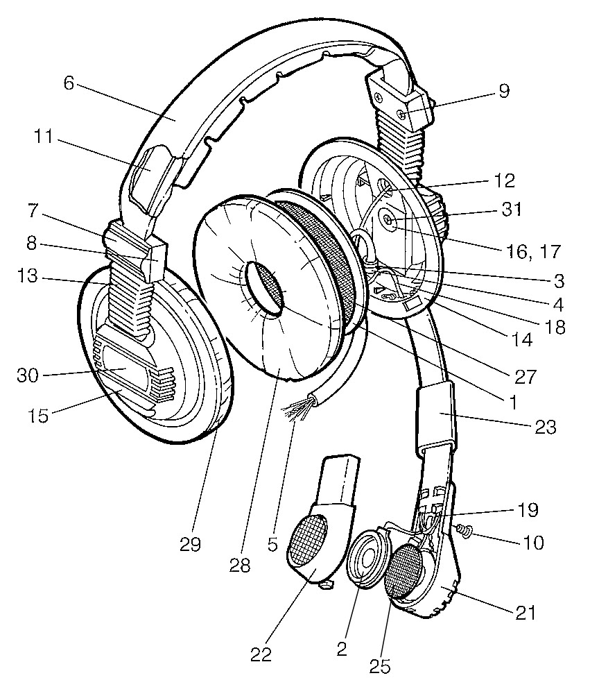 Canford Headphone And Headset Spare Parts 200 Series Diagram Of Guitar