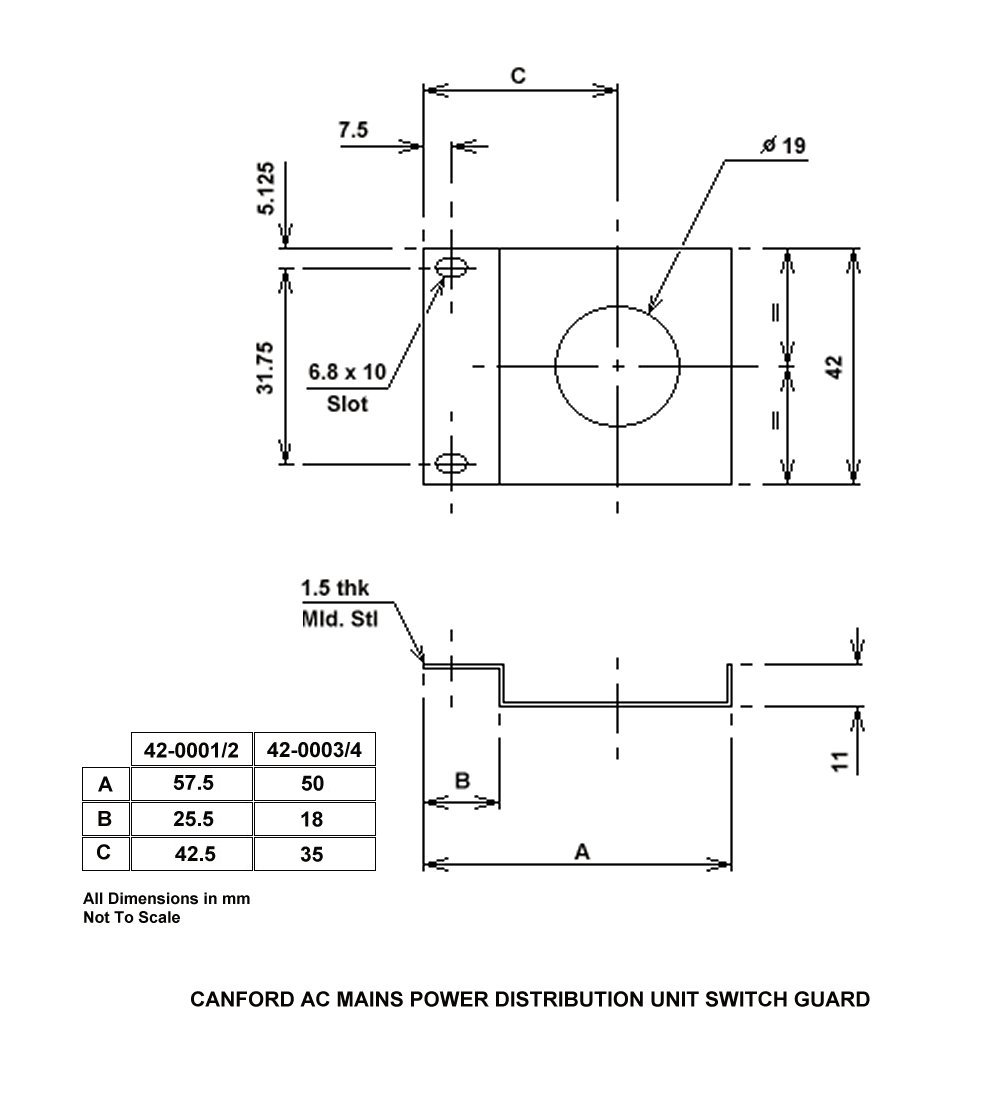 Canford Switch Guard For Ac Mains Power Distribution Unit All 14 Iec 320 Wiring Diagram Product Resources